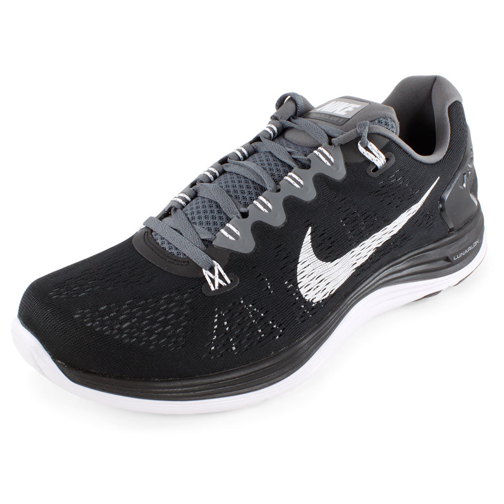Men's Lunarglide + 5 Running Shoes Black And Gray