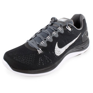 NIKE MENS LUNARGLIDE+ 5 RUNNING SHOES BK/GY