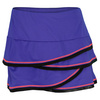 LUCKY IN LOVE Women`s Scallop Mesh Border Tennis Skirt Cobalt Blue