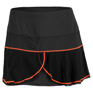 LUCKY IN LOVE WOMENS MESH FLOUNCE SKIRT BLACK