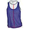 LUCKY IN LOVE Women`s Crop Mesh Tennis Tank Blue