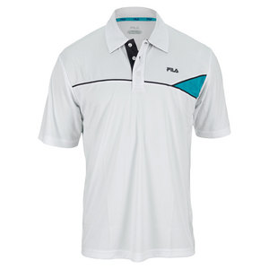 FILA MENS BASELINE TENNIS POLO WHITE