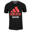 Men`s Tennis Tee Black by ADIDAS