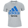ADIDAS Men`s Tennis Tee Medium Gray Heather