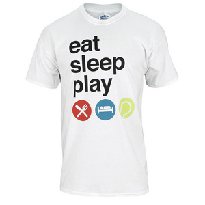 TENNIS EXPRESS EAT SLEEP PLAY UNISEX TEE WHITE