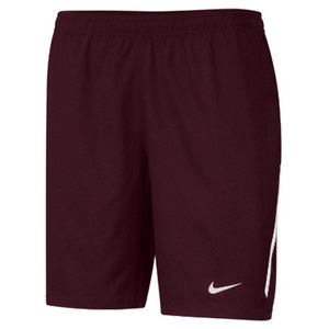 NIKE Men`s Power 9 Inch Woven Tennis Short Dark Maroon
