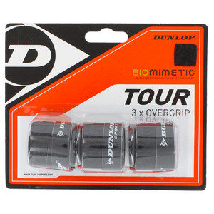 DUNLOP BIOMIMETIC TOUR 3 PACK OVERGRIP BLACK