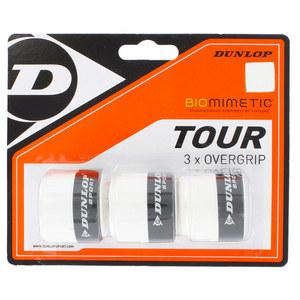 DUNLOP BIOMIMETIC TOUR 3 PACK OVERGRIP WHITE