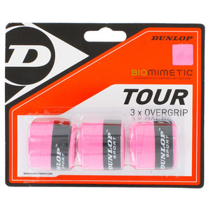 DUNLOP BIOMIMETIC TOUR 3 PACK OVERGRIP PINK