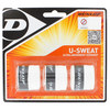 U Sweat 3 Pack Tennis Overgrip White by DUNLOP