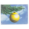 CLARKE Tennis Ball Ornament Christmas Card 10 Pack