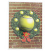 CLARKE Tennis Ball Wreath Christmas Card 10 Pack