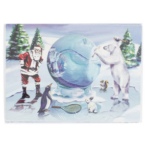 CLARKE TENNIS ICE SCULPTURE XMAS CARD 10 PACK