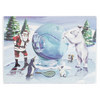 CLARKE Tennis Ice Sculpture Christmas Card 10 Pack