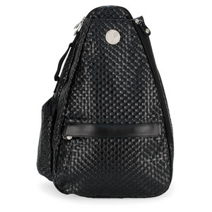 LIFE IS TENNIS EBONY BLACK WEAVE SMALL SLING