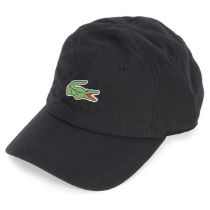 LACOSTE MENS POLY CROC TENNIS CAP BLACK