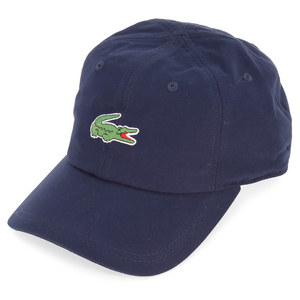 LACOSTE MENS POLY CROC TENNIS CAP NAVY