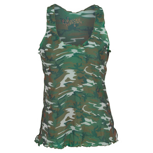 VICKIE BROWN WOMENS MESH SWING TENNIS TANK CAMO