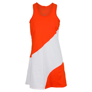 VICKIE BROWN WOMENS GOLDIE TENNIS DRESS ORANGE/WH