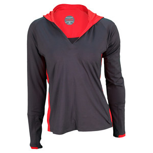 BOLLE WOMENS INFRARED LONG SLEEVE TOP GRAY