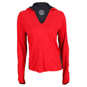BOLLE WOMENS INFRARED LONG SLEEVE TOP RED