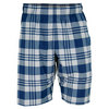 NIKE Men`s Gladiator 10 Inch Plaid Tennis Short Navy and Gray