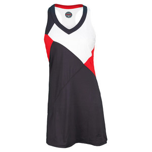 BOLLE WOMENS INFRARED TENNIS DRESS GRAY/RED