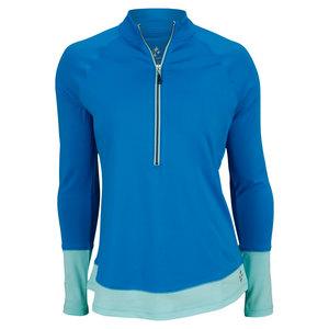 JOFIT WOMENS HERMOSA COLOR ZIP PULLOVER LIQ BL