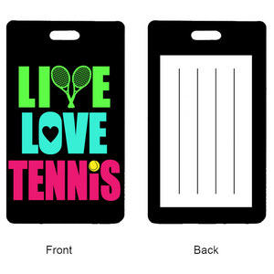 Live Love Tennis Rectangle Bag Tag