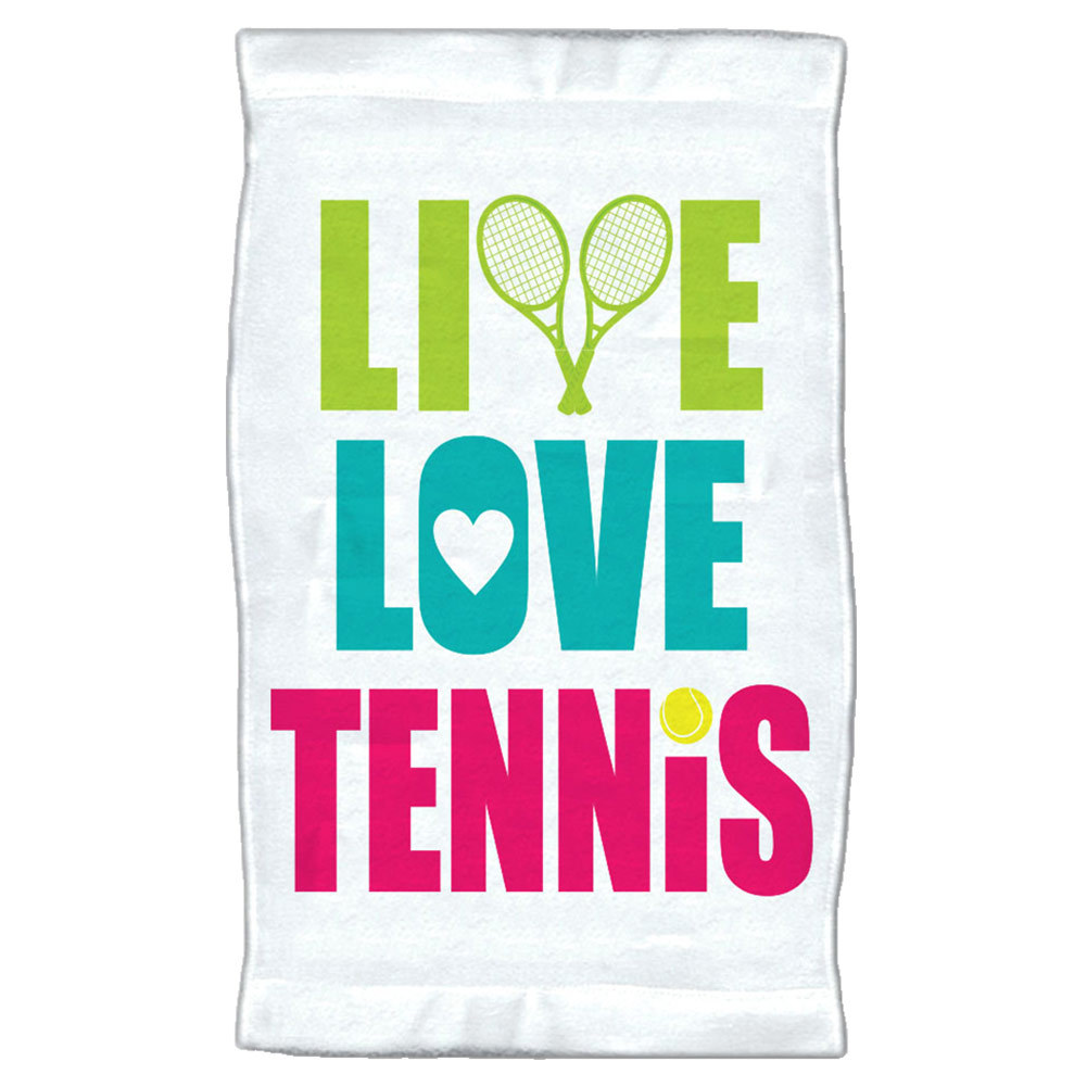 Live Love Tennis Towel