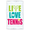 4 WOODEN SHOES Live Love Tennis Towel