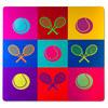 4 WOODEN SHOES Tennis Pop Art Aluminum Print