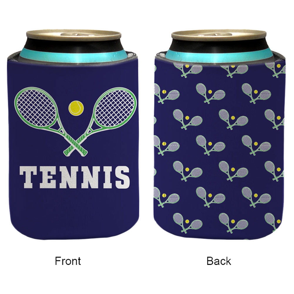 Patterned Tennis Insulated Can Holder