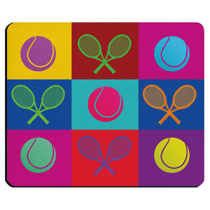 4 WOODEN SHOES TENNIS POP ART RECTANGLE MOUSEPAD