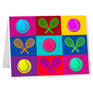 Tennis Pop Art Stationery 10 Pack