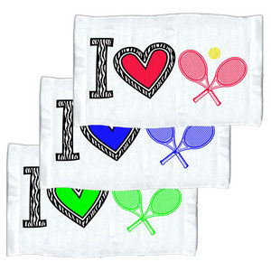 4 WOODEN SHOES I LOVE TENNIS TOWEL