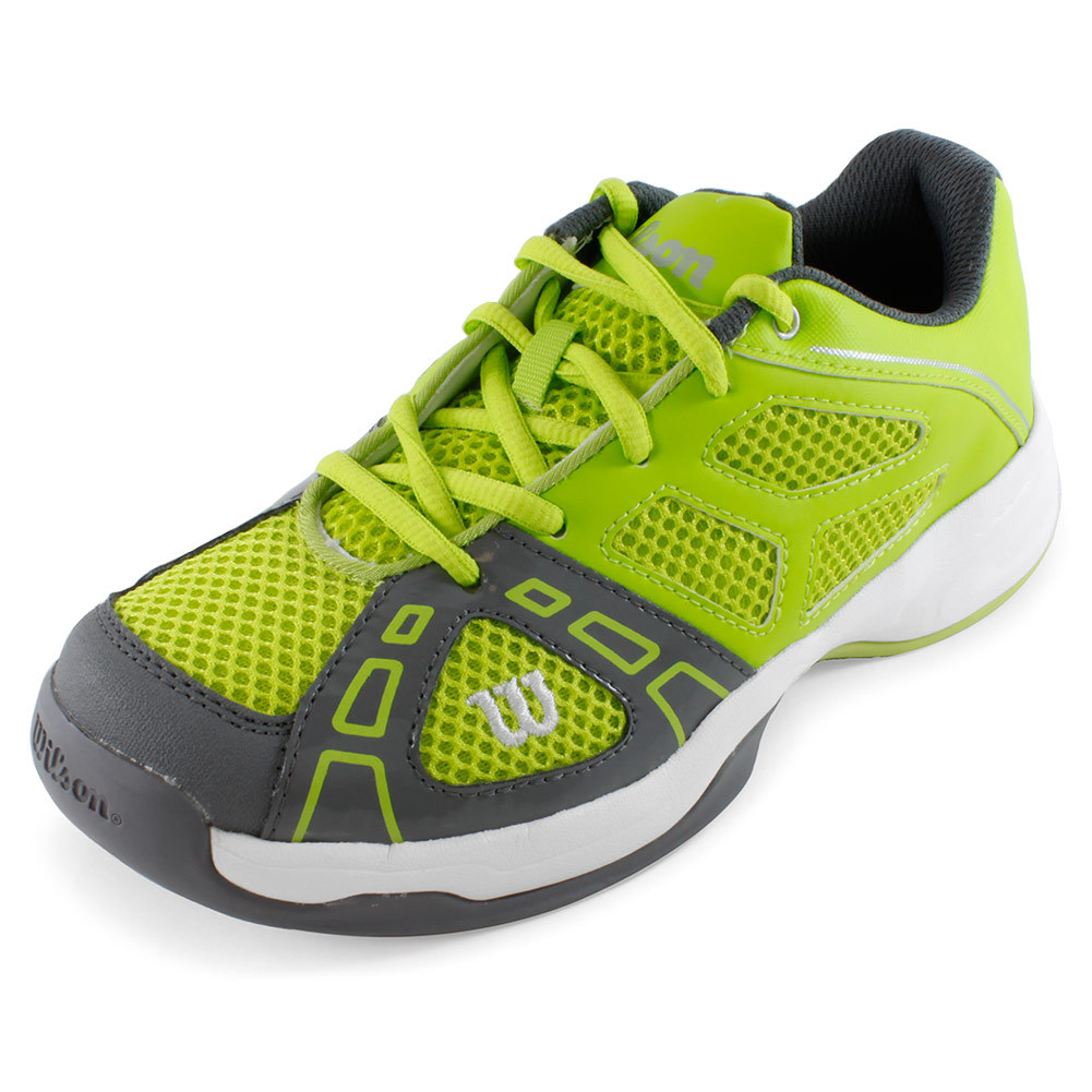 Juniors ` Rush Pro 2 Tennis Shoes Green And Gray