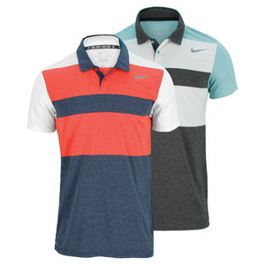 NIKE MENS DRI FIT TOUCH STRIPE TENNIS POLO