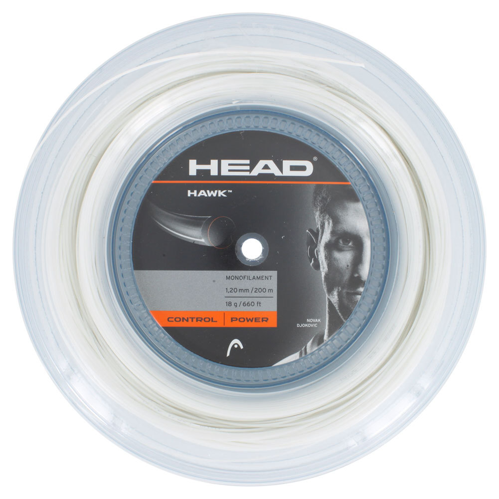 Hawk 18g Tennis String Reel White