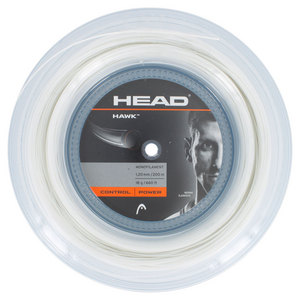 HEAD HAWK 18G TENNIS STRING REEL WHITE