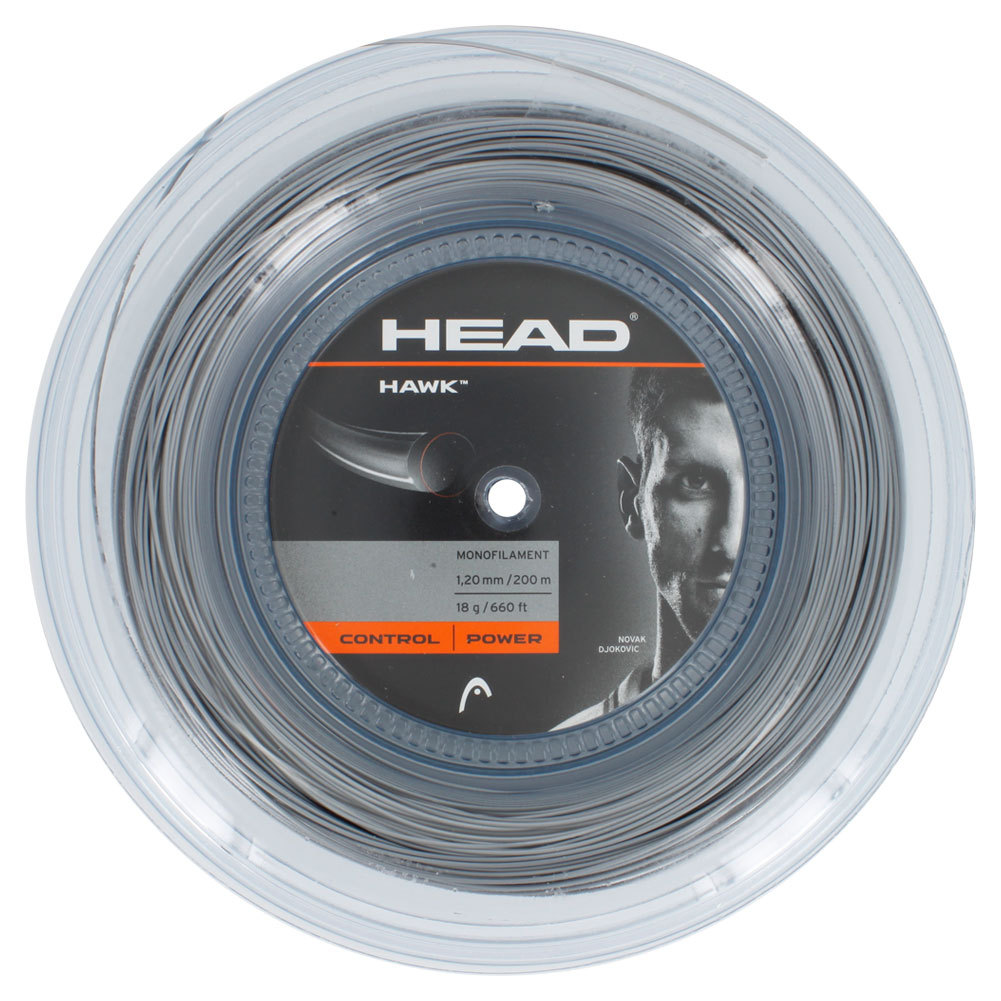 Hawk 18g Tennis String Reel Platinum