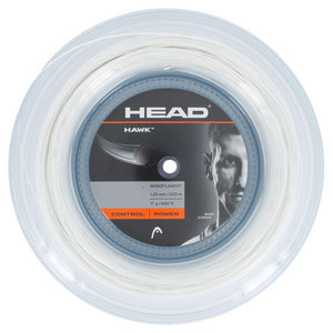 HEAD HAWK 17G TENNIS STRING REEL WHITE