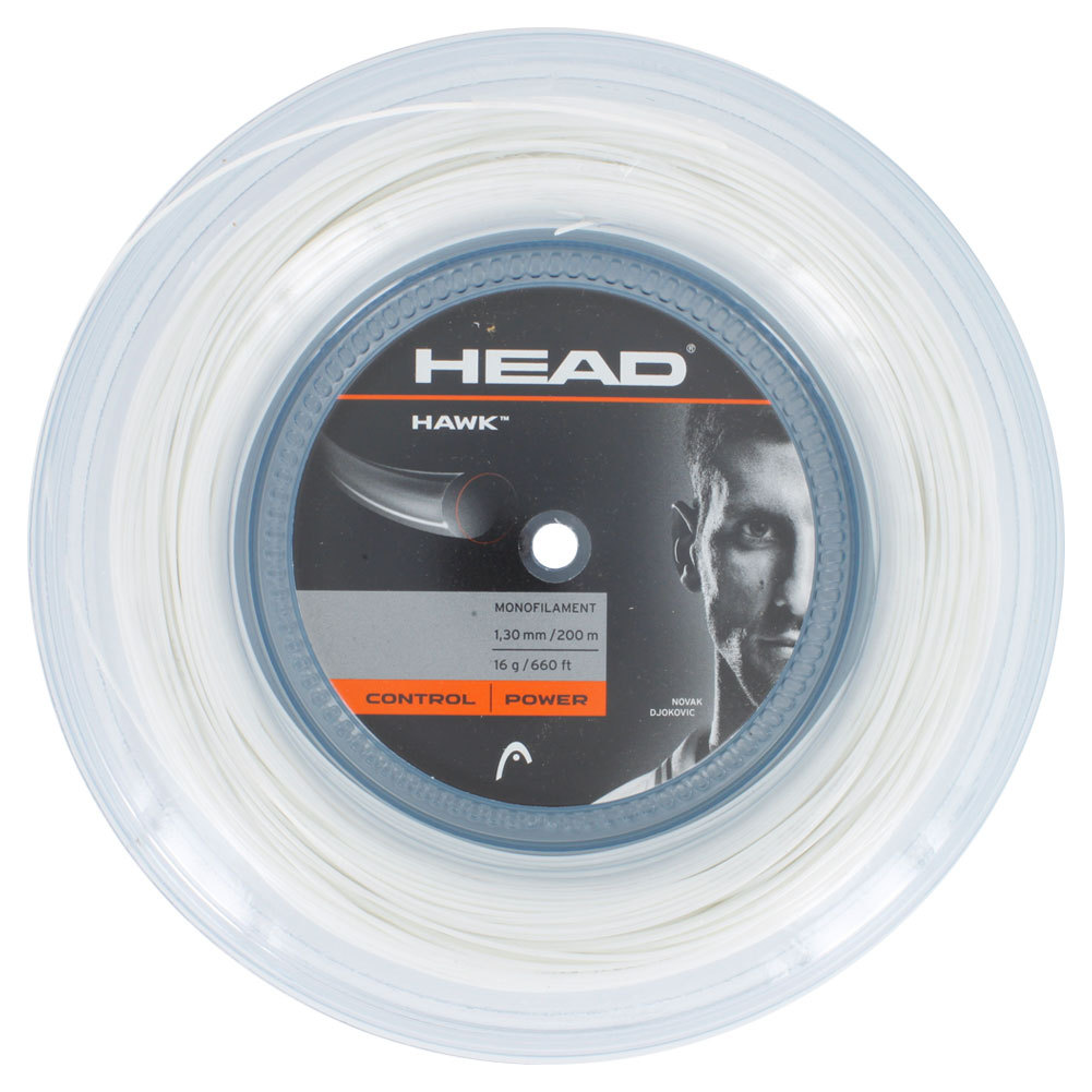 Hawk 16g Tennis String Reel White