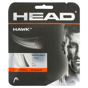 HEAD HAWK 17G TENNIS STRING WHITE