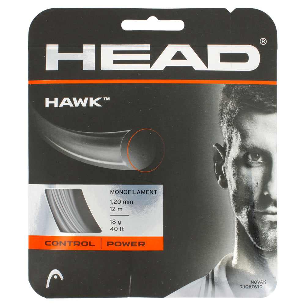 Hawk 18g Tennis String Gray
