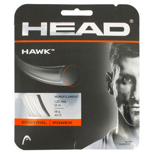 HEAD HAWK 18G TENNIS STRING WHITE
