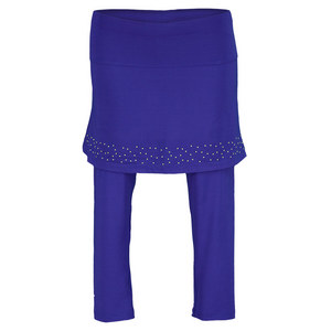 LUCKY IN LOVE GIRLS RHINESTONE TENNIS CAPRI BLUE
