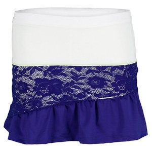 LUCKY IN LOVE GIRLS SPACEY LACEY TENNIS SKIRT BLUE/WH