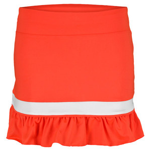 LITTLE MISS TENNIS GIRLS RUFFLED TENNIS SKORT NEON CORAL