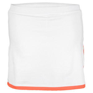 LITTLE MISS TENNIS GIRLS CLASSIC TENNIS SKORT WHITE/CORAL